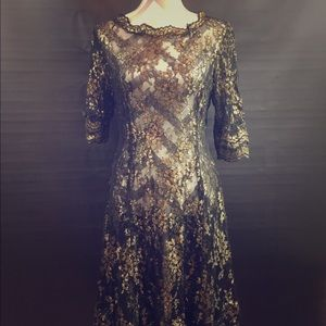 Vintage lace overlay dress
